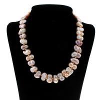 Природное пресноводное жемчужное ожерелье, Пресноводные жемчуги, с Латунь, Женский, 15-17mm, Продан через Приблизительно 18.5 дюймовый Strand