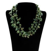 Ожерелье из ракушки, Ракушка, стиль лассо & Женский, зеленый, 13-17mm, Продан через Приблизительно 18.5 дюймовый Strand