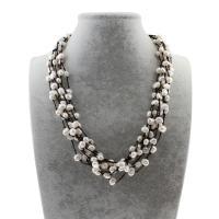 Природное пресноводное жемчужное ожерелье, Пресноводные жемчуги, с Нейлоновый шнурок, Женский, 7-9mm, Продан через Приблизительно 20.5 дюймовый Strand