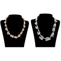 Природное пресноводное жемчужное ожерелье, Пресноводные жемчуги, с Латунь, разные стили для выбора & Женский, Продан через Приблизительно 18.5 дюймовый, Приблизительно 20 дюймовый Strand