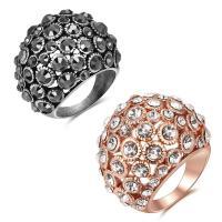 Модные кольца, цинковый сплав, Другое покрытие, разный размер для выбора & Женский & со стразами, Много цветов для выбора, не содержит свинец и кадмий, продается PC