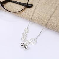 Серебряное ожерелье, Серебро 925 пробы, с 2Inch наполнитель цепи, Овальный цепь & Женский, 12.5x8.5mm, Продан через Приблизительно 15.7 дюймовый Strand