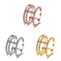 Модные кольца, цинковый сплав, Другое покрытие, разный размер для выбора & Женский & со стразами, Много цветов для выбора, не содержит никель, свинец, продается PC