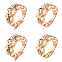 Модные кольца, цинковый сплав, Другое покрытие, разный размер для выбора & Женский & со стразами, не содержит никель, свинец, продается PC