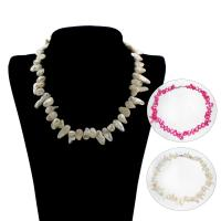 Природное пресноводное жемчужное ожерелье, Пресноводные жемчуги, латунь Замок-карабин, Зуб, Женский, Много цветов для выбора, Продан через Приблизительно 18 дюймовый Strand
