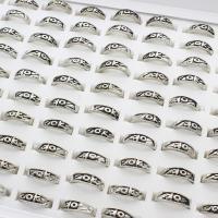 Модные кольца, цинковый сплав, плакированный цветом под старое серебро, Мужская, не содержит свинец и кадмий, 21x22x6.5mm, размер:6-9, 100ПК/Box, продается Box
