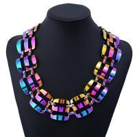 Ожерелья из металла, Железо, с 5cm наполнитель цепи, рисунок кистью, Женский, не содержит свинец и кадмий, 450mm, Продан через Приблизительно 17.5 дюймовый Strand