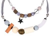 канифоль Свитер ожерелье, с ткань & деревянный, разные стили для выбора & Женский, 600mm, Продан через Приблизительно 23.5 дюймовый Strand