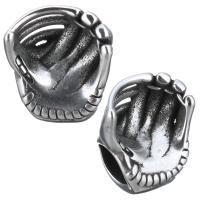 Европейские стильные бусины из нержавеющей стали, нержавеющая сталь, Кресло, без Тролль & чернеют, 11x13x8mm, отверстие:Приблизительно 4.5mm, 10ПК/Лот, продается Лот