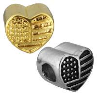 Европейские стильные бусины из нержавеющей стали, нержавеющая сталь, Сердце, Другое покрытие, без Тролль, Много цветов для выбора, 11.50x10x9.50mm, отверстие:Приблизительно 5mm, 10ПК/сумка, продается сумка