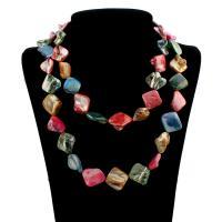 Ракушка Свитер ожерелье, Мужская, 22x7mm, длина:Приблизительно 39 дюймовый, 10пряди/сумка, продается сумка