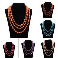 Ракушка Ожерелье, Мужская, Много цветов для выбора, 7mm, длина:Приблизительно 18 дюймовый, 10пряди/сумка, продается сумка
