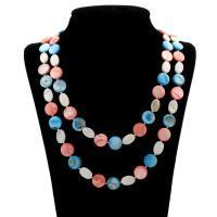 Ракушка Свитер ожерелье, Мужская, 14x3mm, длина:Приблизительно 47 дюймовый, 10пряди/сумка, продается сумка