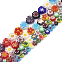 Бисер, выполненный в технике миллефиори, Стекло Шеврон, Сердце, разный размер для выбора, отверстие:Приблизительно 1mm, Продан через Приблизительно 16 дюймовый Strand