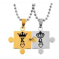 титан Двойное ожерелье, Корона, Другое покрытие, мяч цепь & различные модели для выбора, Много цветов для выбора, Продан через Приблизительно 22 дюймовый Strand