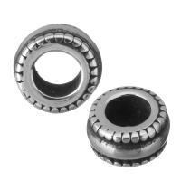 Европейские стильные бусины из нержавеющей стали, нержавеющая сталь, Колесо, без Тролль & чернеют, 8.50x4.50x8.50mm, отверстие:Приблизительно 4.5mm, 10ПК/Лот, продается Лот