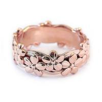 Модные кольца, цинковый сплав, Роуз, плакированный цветом розового золота, разный размер для выбора & Женский, не содержит никель, свинец, продается PC
